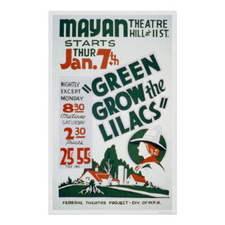 Green Grow The Lilacs 1937 WPA Poster