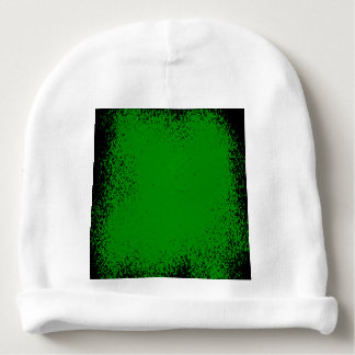 Green Grunge Background Baby Beanie