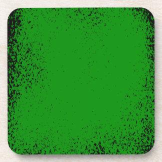 Green Grunge Background Coaster