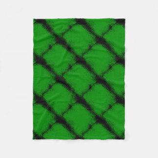 Green Grunge Background Fleece Blanket