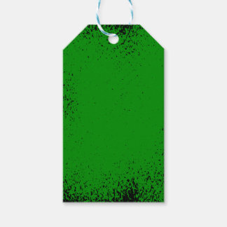 Green Grunge Background Gift Tags