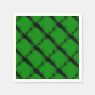 Green Grunge Background Paper Napkins
