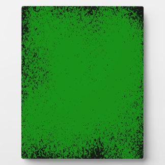 Green Grunge Background Plaque