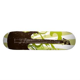 Green Grunge Guitar Skateboard