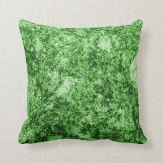 Green Grungy Abstract Design Throw Pillow