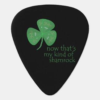 Green Guitar Pick Shamrock