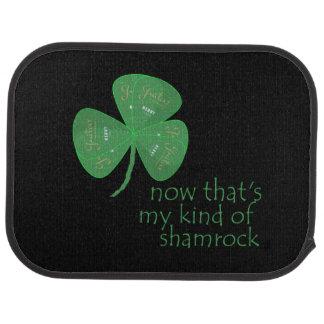 Green Guitar Pick Shamrock Floor Mat