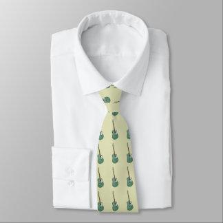 Green guitars on green tie