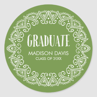 Green Gypsy Graduation Stickers