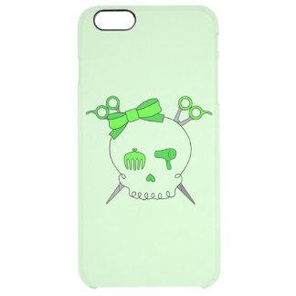 Green Hair Accessory Skull -Scissor Crossbones #2 Clear iPhone 6 Plus Case
