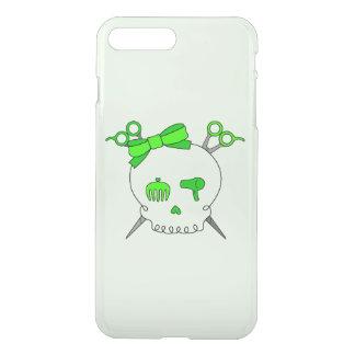 Green Hair Accessory Skull -Scissor Crossbones #2 iPhone 7 Plus Case