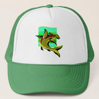 Green Hammerhead Shark Trucker Hat
