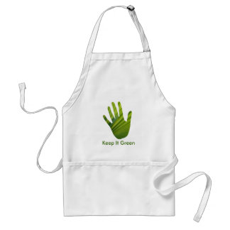 Green Hand Cut Out Adult Apron