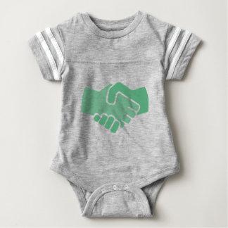 Green Handshake Baby Bodysuit