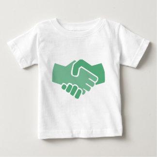 Green Handshake Baby T-Shirt