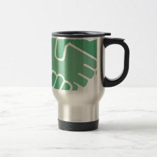 Green Handshake Travel Mug
