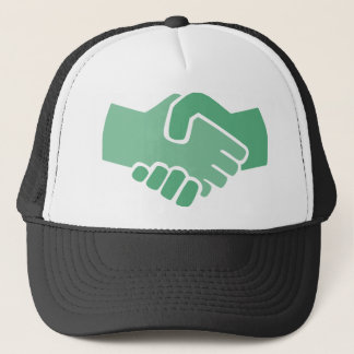 Green Handshake Trucker Hat