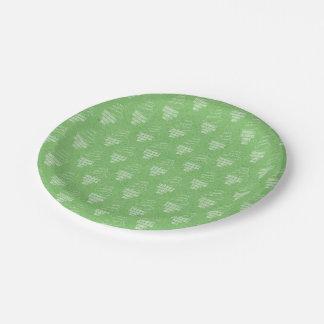 Green Happy Birthday Paper Plate