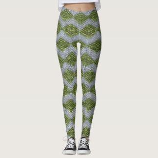 Green Harlequin Bling Leggings