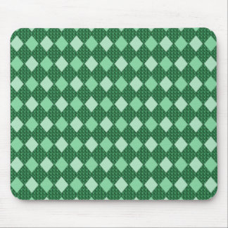 Green--Harlequin_Diamonds_Home-Work-Decor Mouse Pad