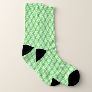 Green Harlequin Large All-Over-Print Socks 1