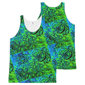 Green Haze Honu All-Over-Print Tank Top