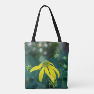 Green-Headed Coneflower Yellow Wildflower Tote Bag