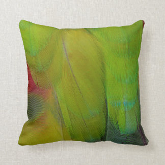 Green Headed Parrot Vertical Throw Pillow