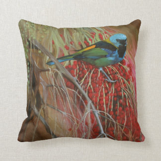 Green-headed Tanager Fine Art Pillow