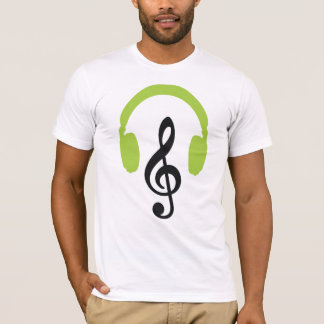 Green Headphones Music Note Love TC5 DJ Party T-Shirt