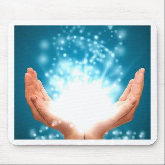 Green healing hands chakra Reiki energy zen yoga Mouse Pad