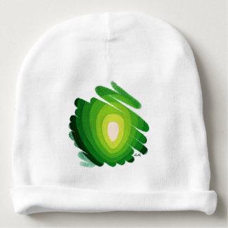 Green Heart Chakra Art Spirals Baby Beanie
