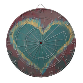 Green Heart Dart Board