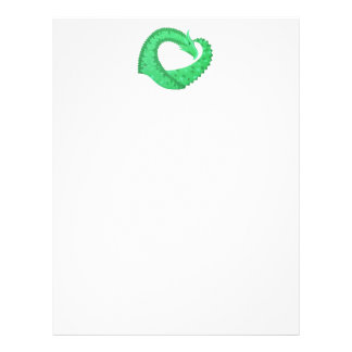 Green heart dragon on white letterhead