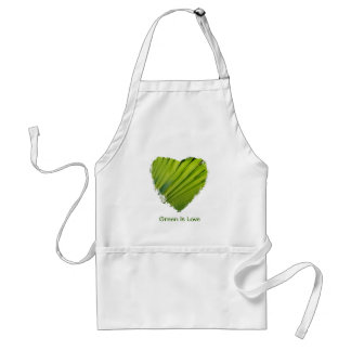 Green Heart Green Is Love Apron