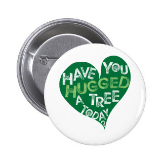 Green Heart Hug a Tree Buttons
