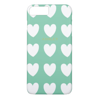 Green Heart iPhone 7+ Case Personalized