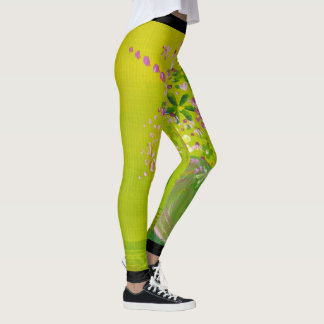 Green Heart Leggings