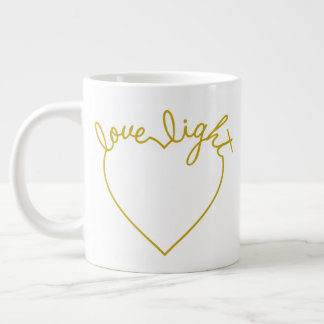 Green Heart - Love Light Large Coffee Mug