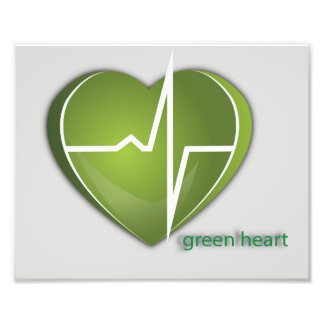 Green Heart Photographic Print