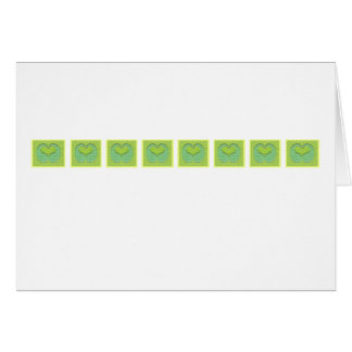 Green Heart Row Stationery Note Card
