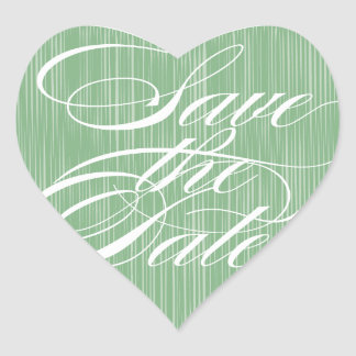 Green Heart  |  Save the Date Envelope Seal Sticker