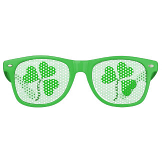Green Heart St. Patrick Day Party Shades