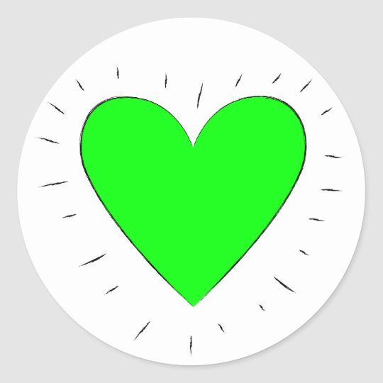 Green Heart - Stickers