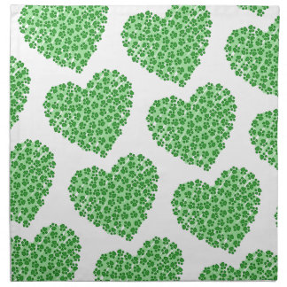 Green Heart with Animal Paws Napkin
