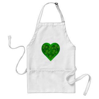 Green Heart with Shamrocks Standard Apron