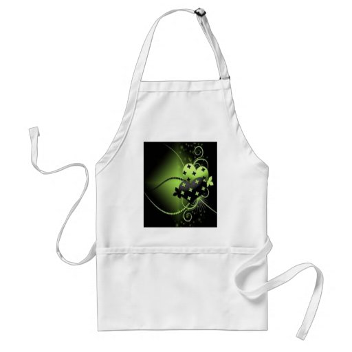 green hearts apron