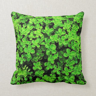 Green Hedge - Flower Surface Texture Throw Pillow
