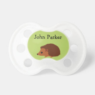 Green Hedgehog Binky Pacifier Binky with name