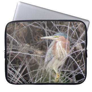 Green Heron Laptop Sleeve